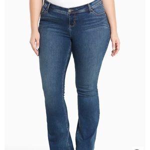 Torrid Source of Wisdom slim bootcut jeans size 16